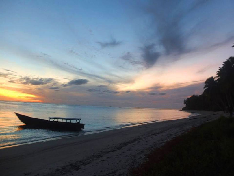 sunset sumatra